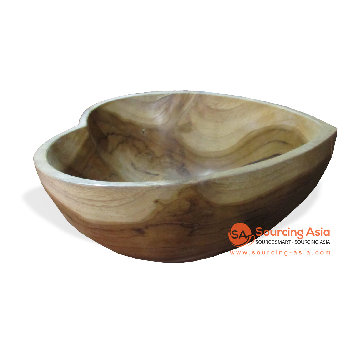ANG005-L HEART TEAK WOOD BOWL