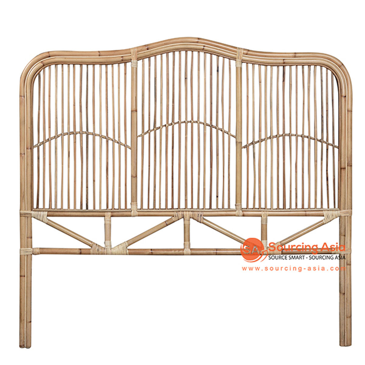 SHL077 NATURAL RATTAN CLASSIC BEDHEAD WITH THREE PANELS