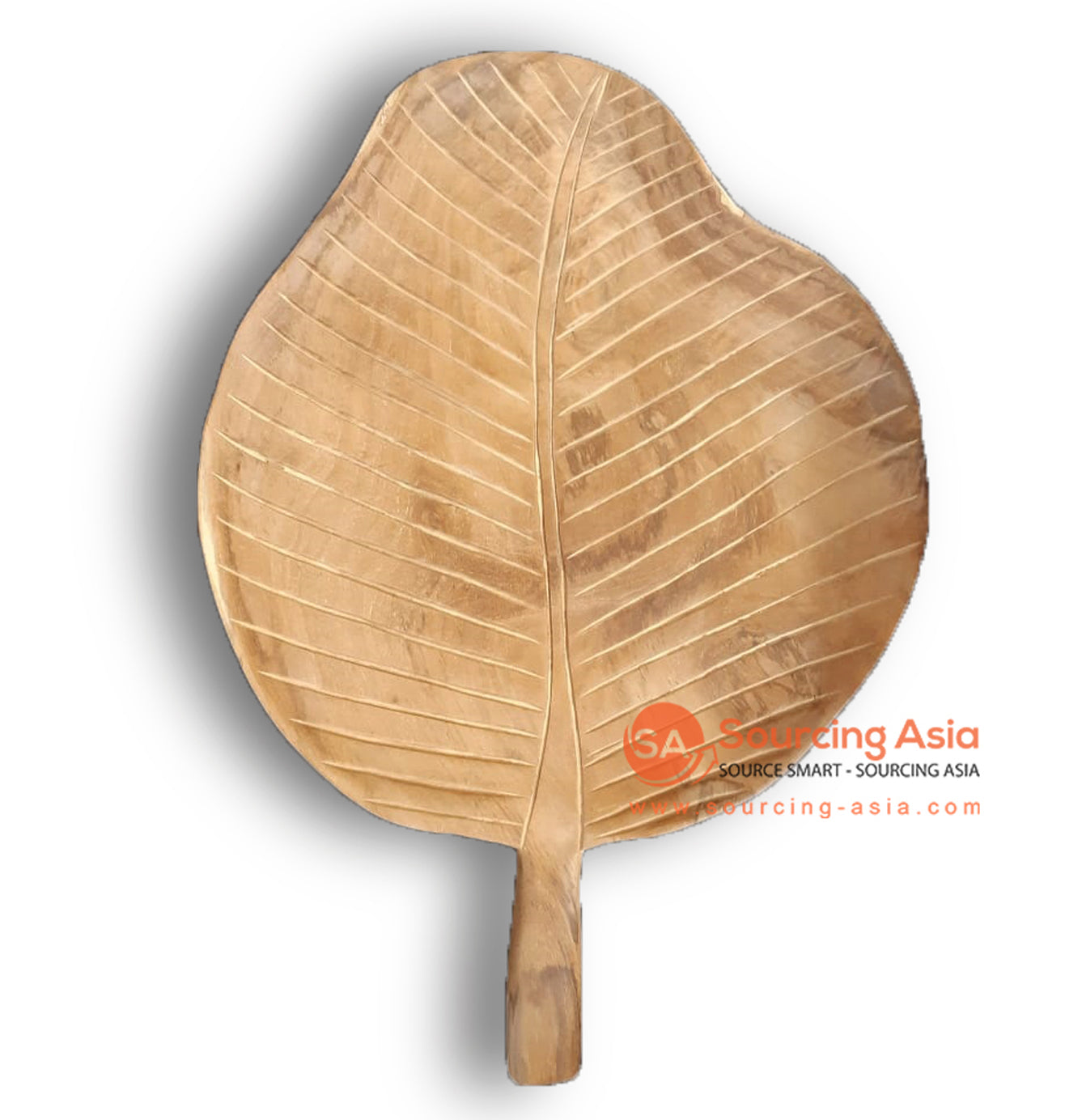 BMW203-2 TEAK WOOD PLATE WITH HANDLE AND CARVING