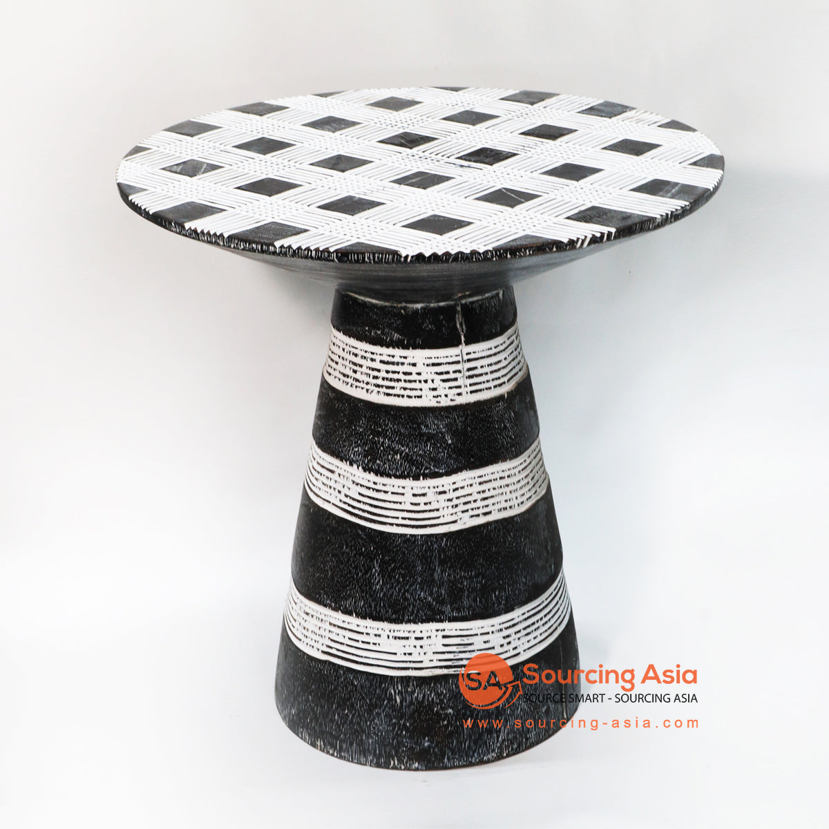 BMW220-2 CARVED TRIBAL ETHNIC STYLE SIDE TABLE