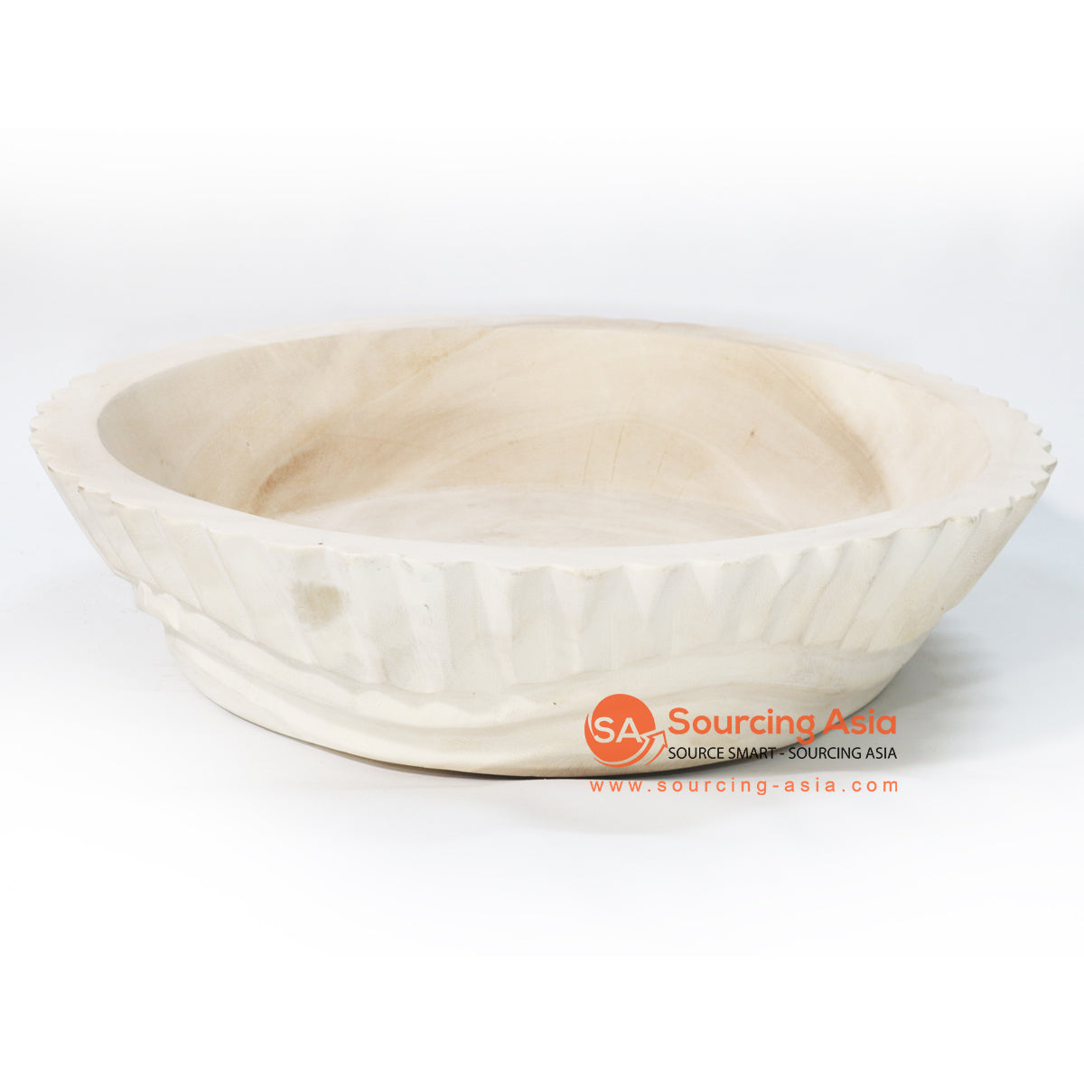 BMWC042 SCALLOPED MANGO WOOD BOWL