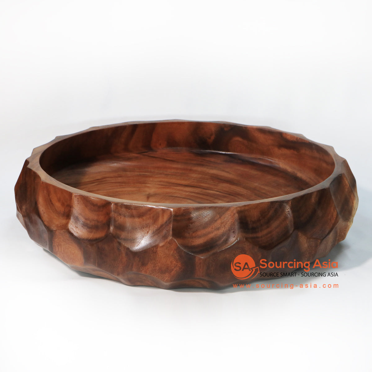 BMWC043 SCALLOPED SUAR WOOD BOWL