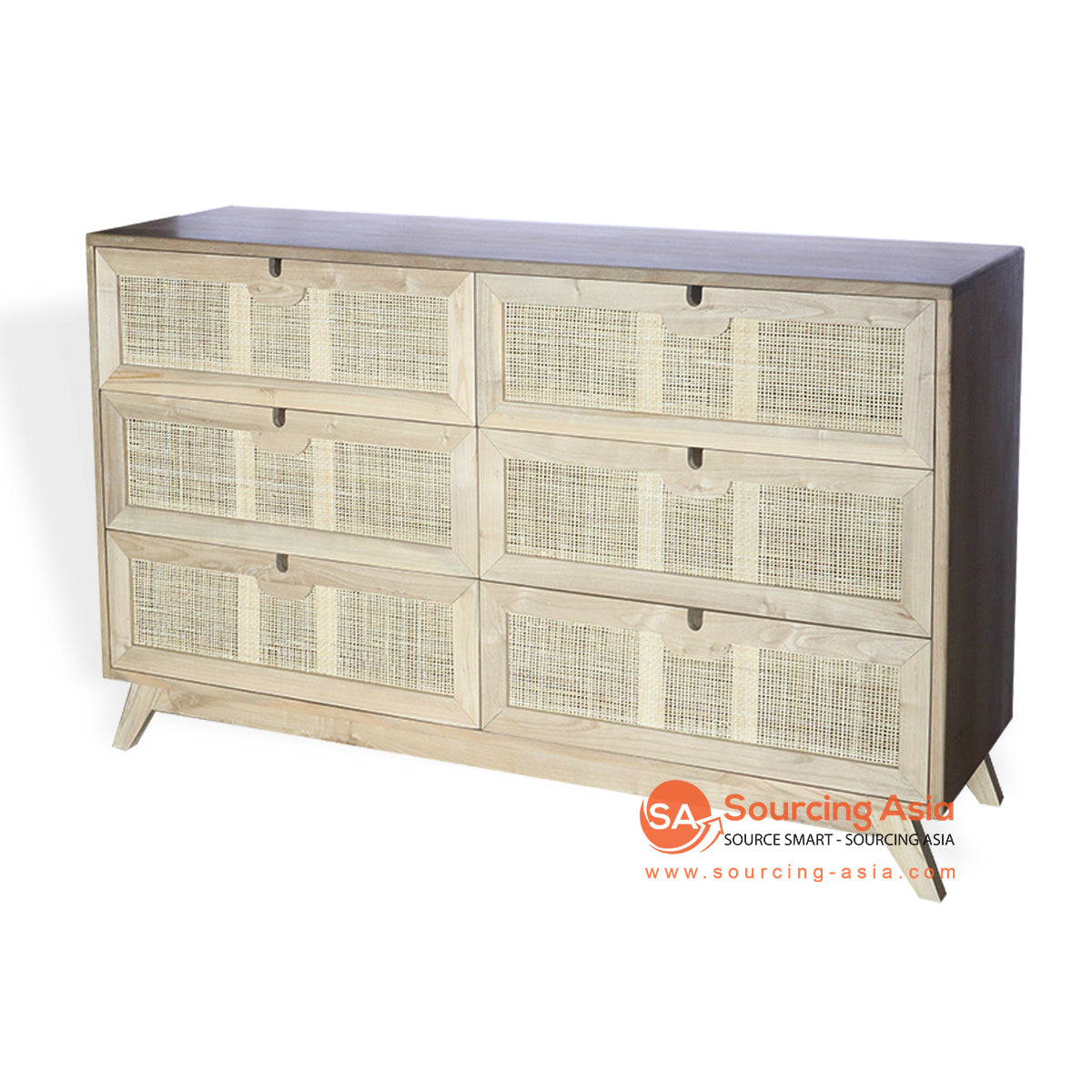 BNT217 RATTAN CABINET WITH 6 DRAWER