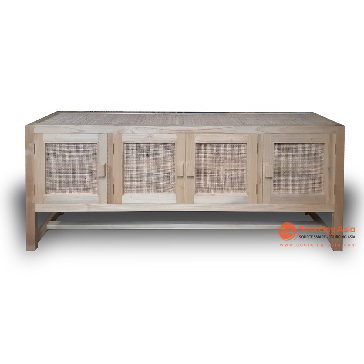 BNT218 RATTAN CABINET WITH FOUR DOORS AND TOP WEBBING