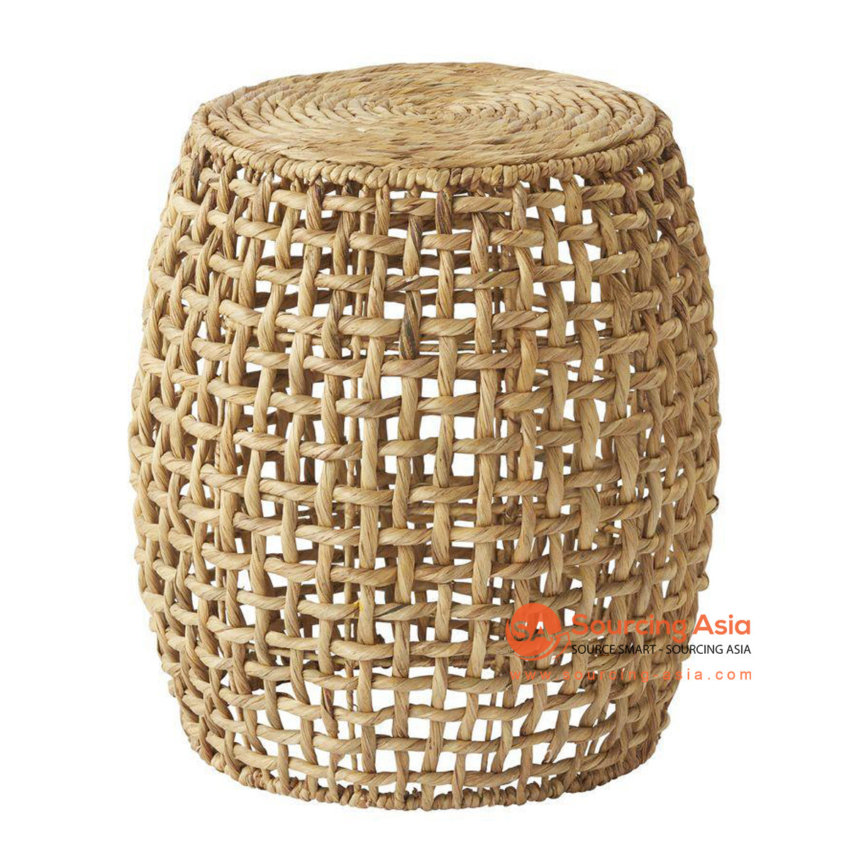 BNT290 WATER HYACINTH DRUM SIDE TABLE