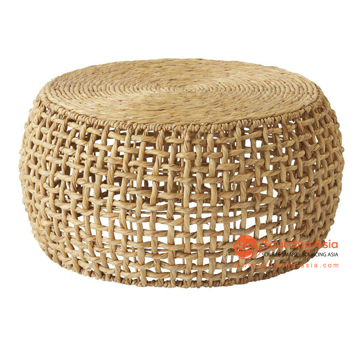 BNT291 WATER HYACINTH DRUM LOW TABLE