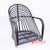 BNTC001-22 BLACK GAPED RATTAN ARM CHAIR
