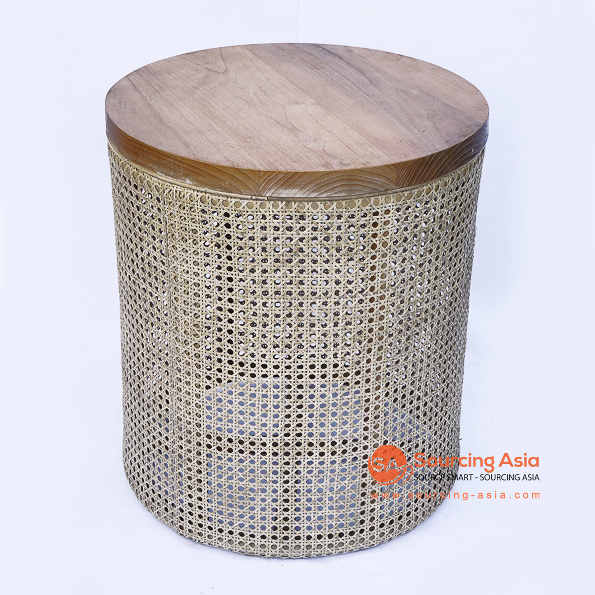 BNTC006-3 RATTAN WOVEN SIDE TABLE WOODEN TOP
