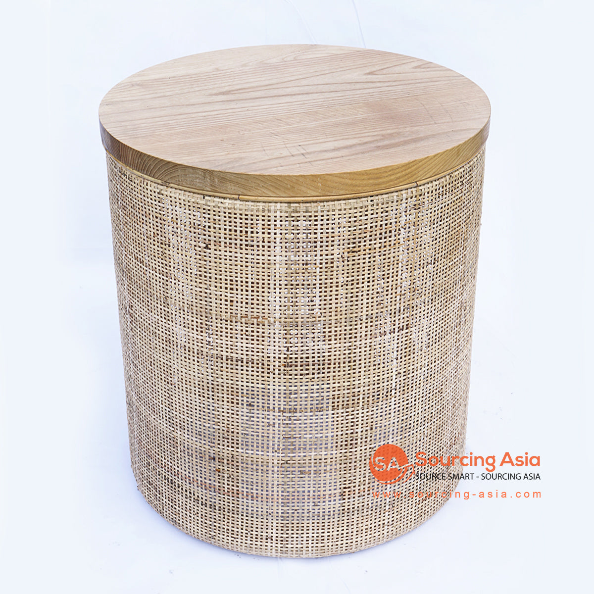 BNTC006-4 RATTAN WOVEN SIDE TABLE WOODEN TOP