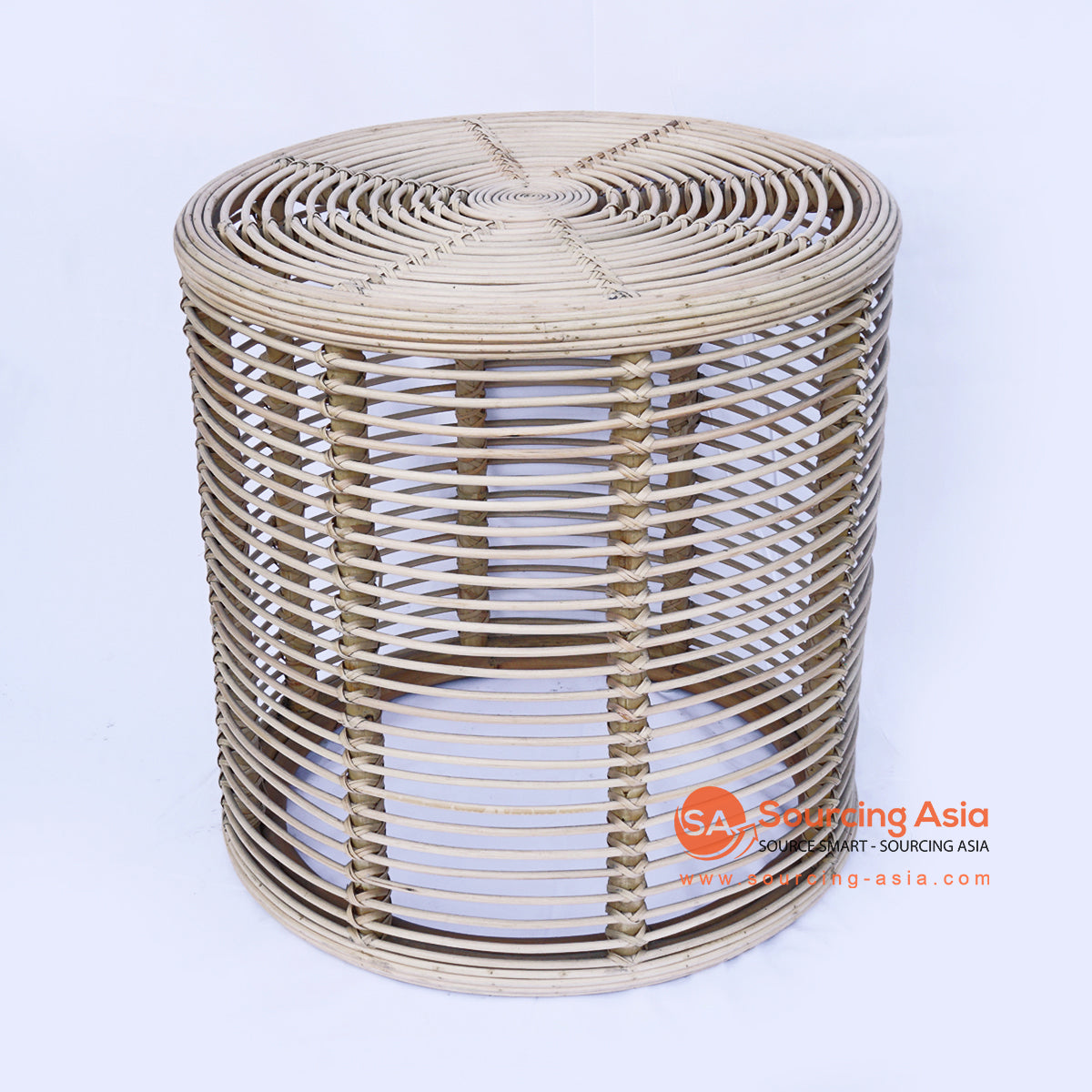 BNTC006-5 ROUND RATTAN GAPED SIDE TABLE