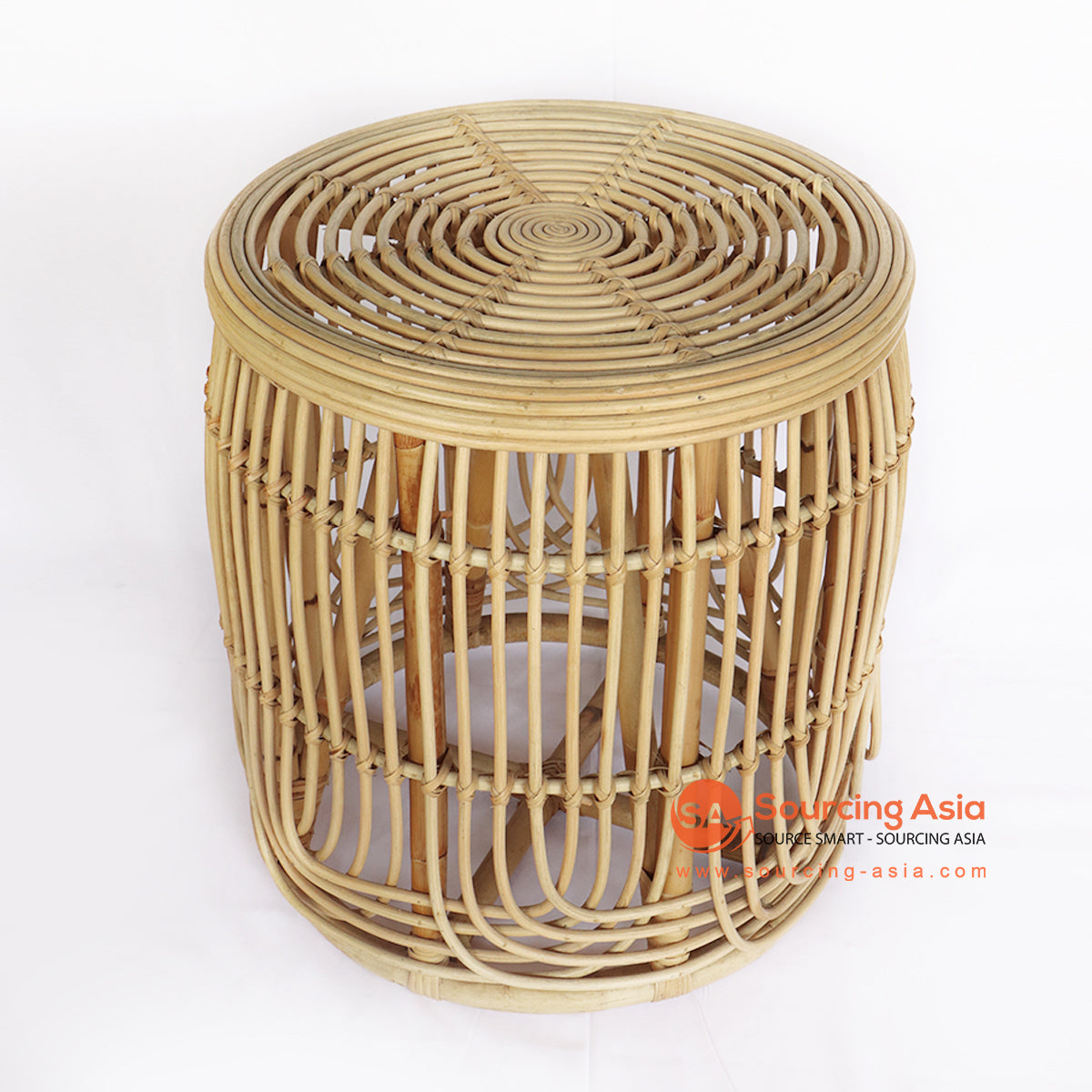 BNTC006-8 ROUND RATTAN GAPED SIDE TABLE