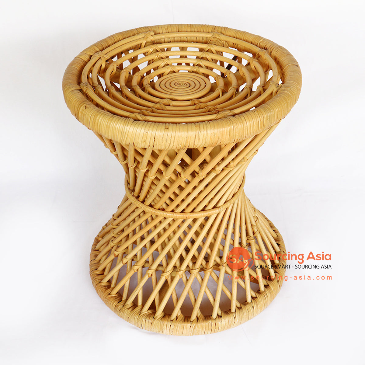 BNTC006-9 ROUND TWIST RATTAN SIDE TABLE