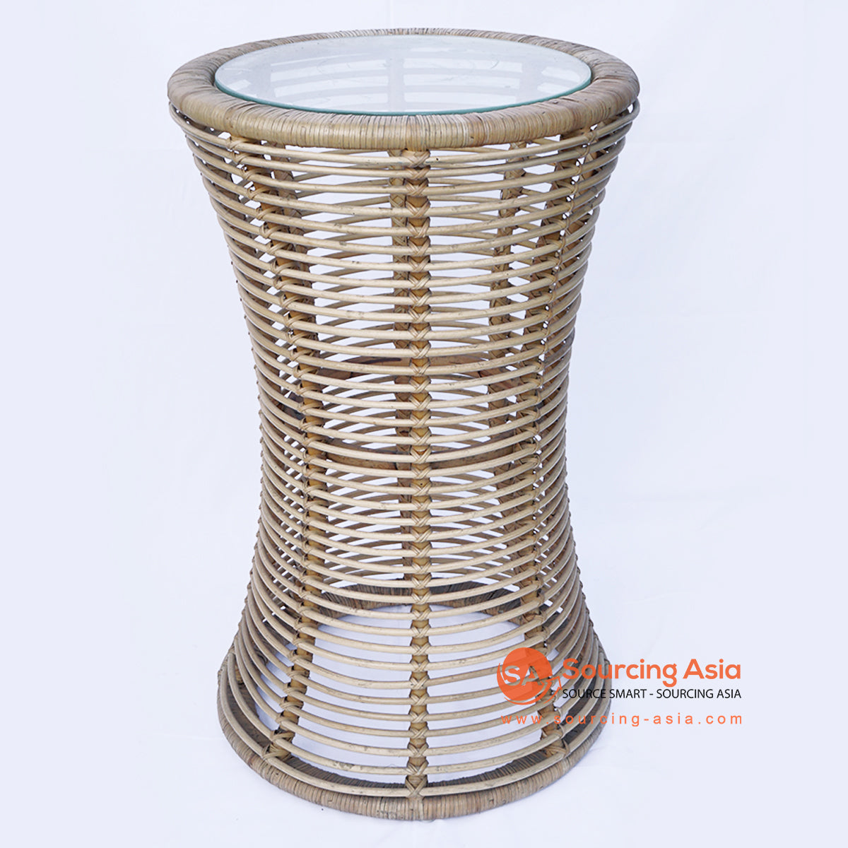 BNTC006 TALL RATTAN GAPED SIDE TABLE