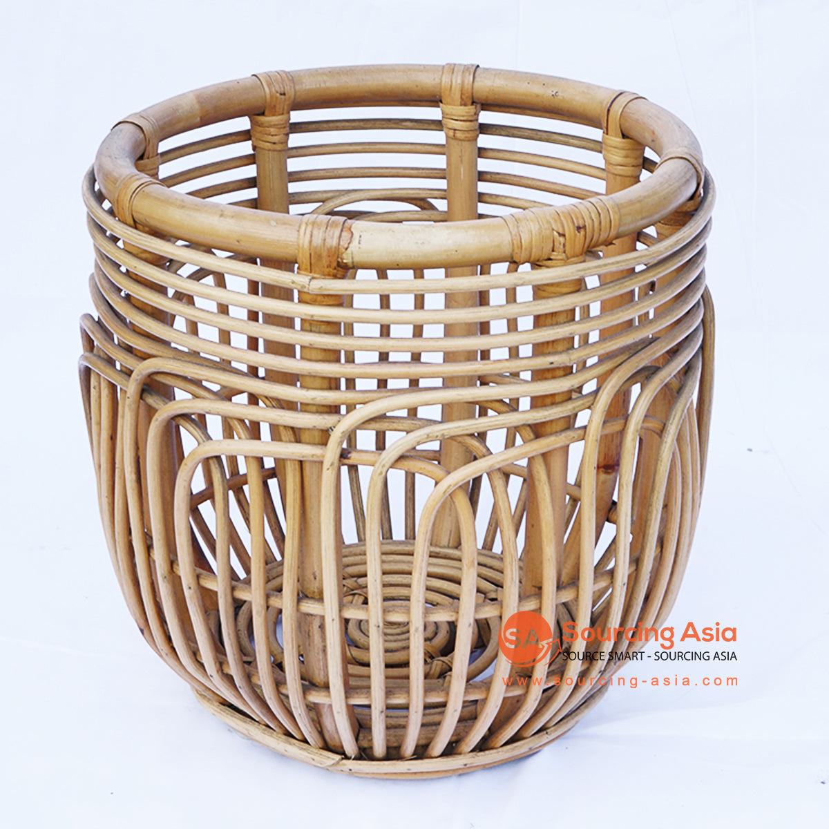 BNTC007 RATTAN DECORATIVE GAPED BASKET