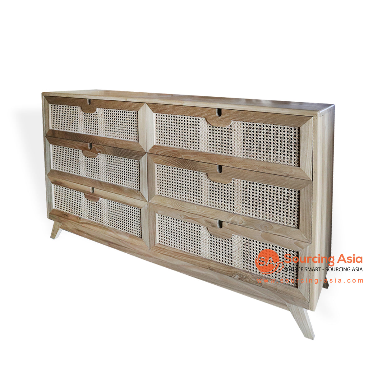 BNTC020-4 RATTAN CABINET WITH 6 DRAWER