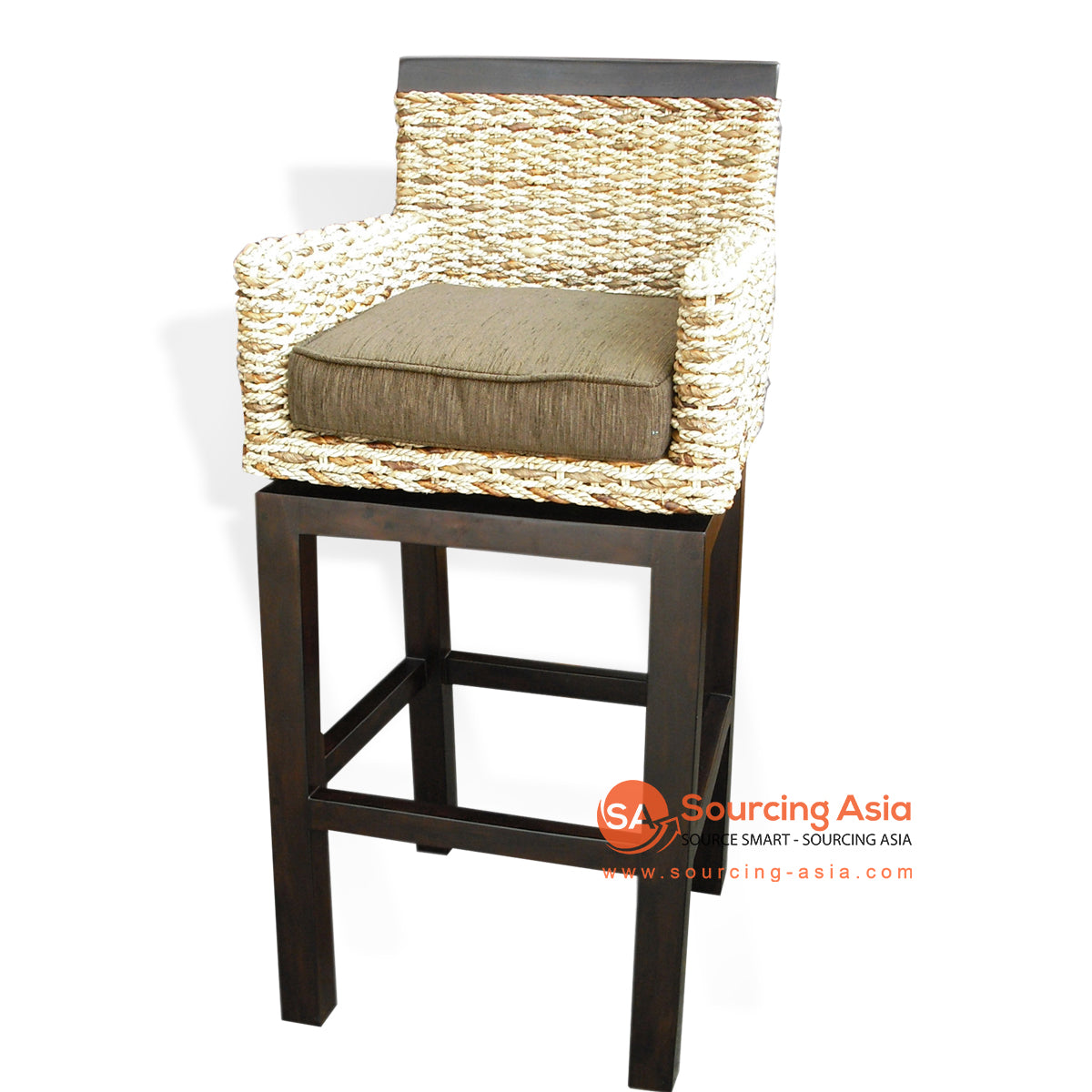 BS011 MIXED BANANA FIBER BAR STOOL