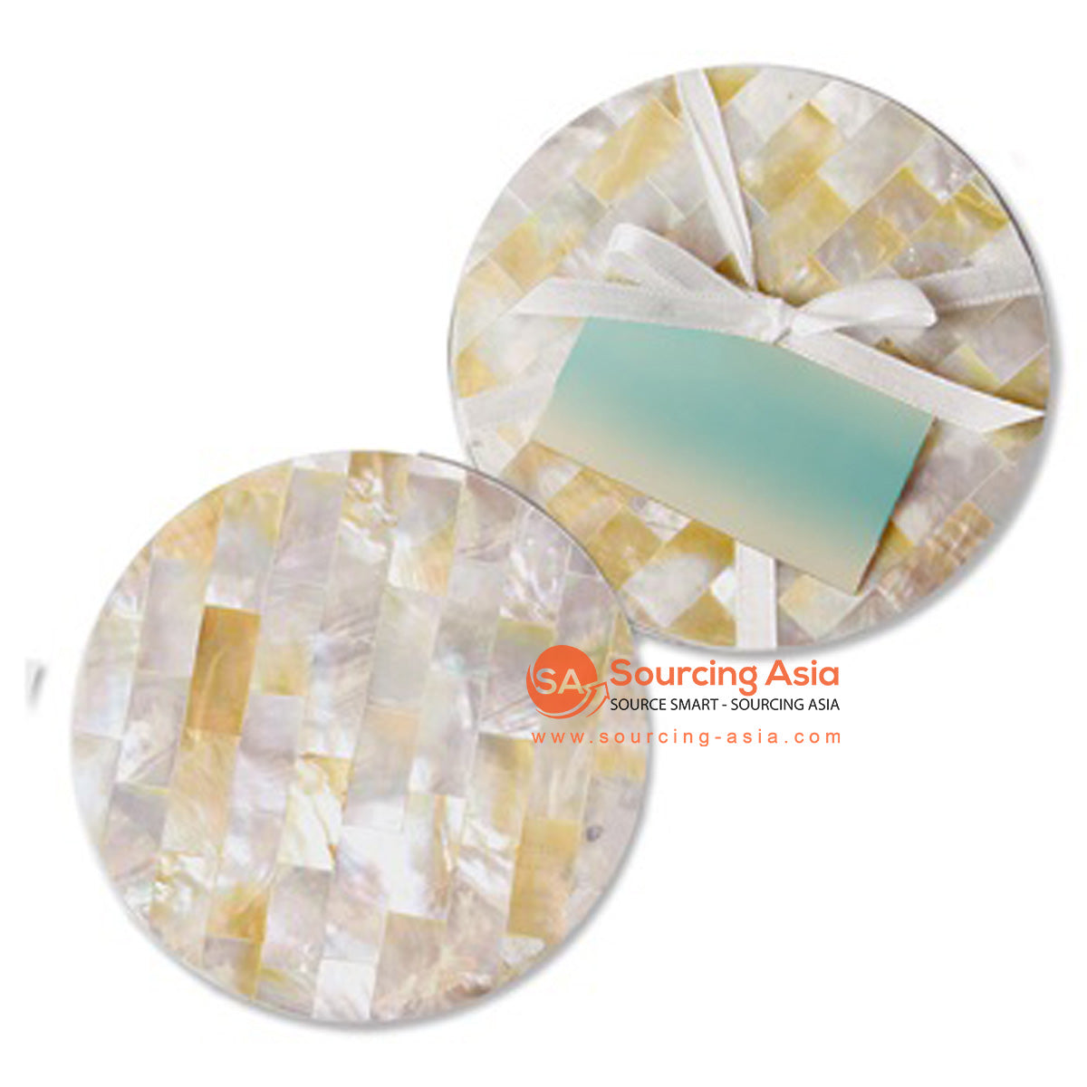 BZN004 MOTHER OF PEARL COASTER