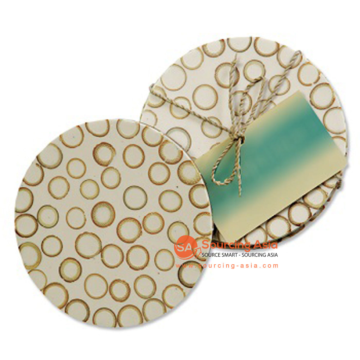 BZN005 CINNAMON AND RESIN COASTER