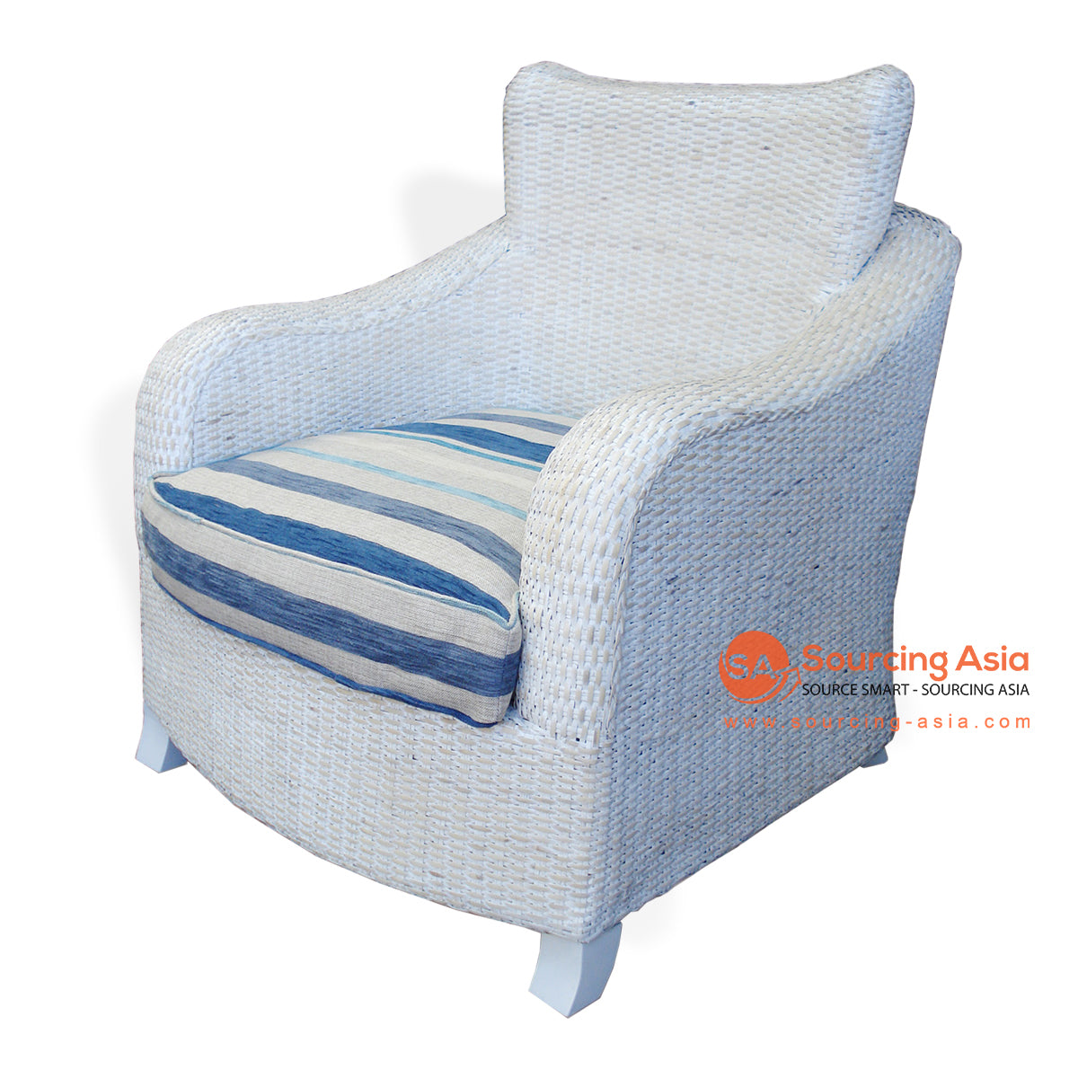 CA69 RATTAN SITTING CHAIR WHITE