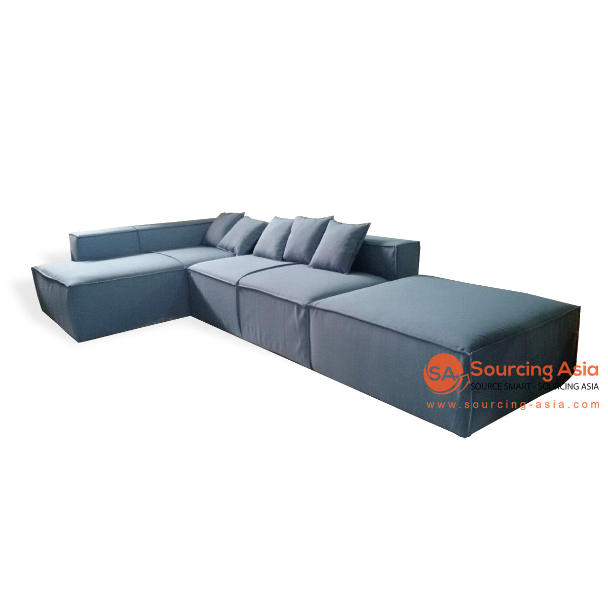 CCM016 DENIM INDOOR LOUNGE L SHAPE WITH INSERT FOAM
