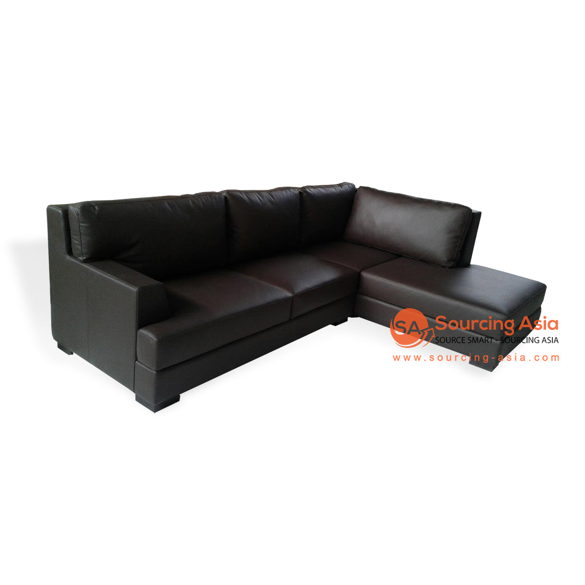 CCM018 LEATHER SOFA WITH CHAISE