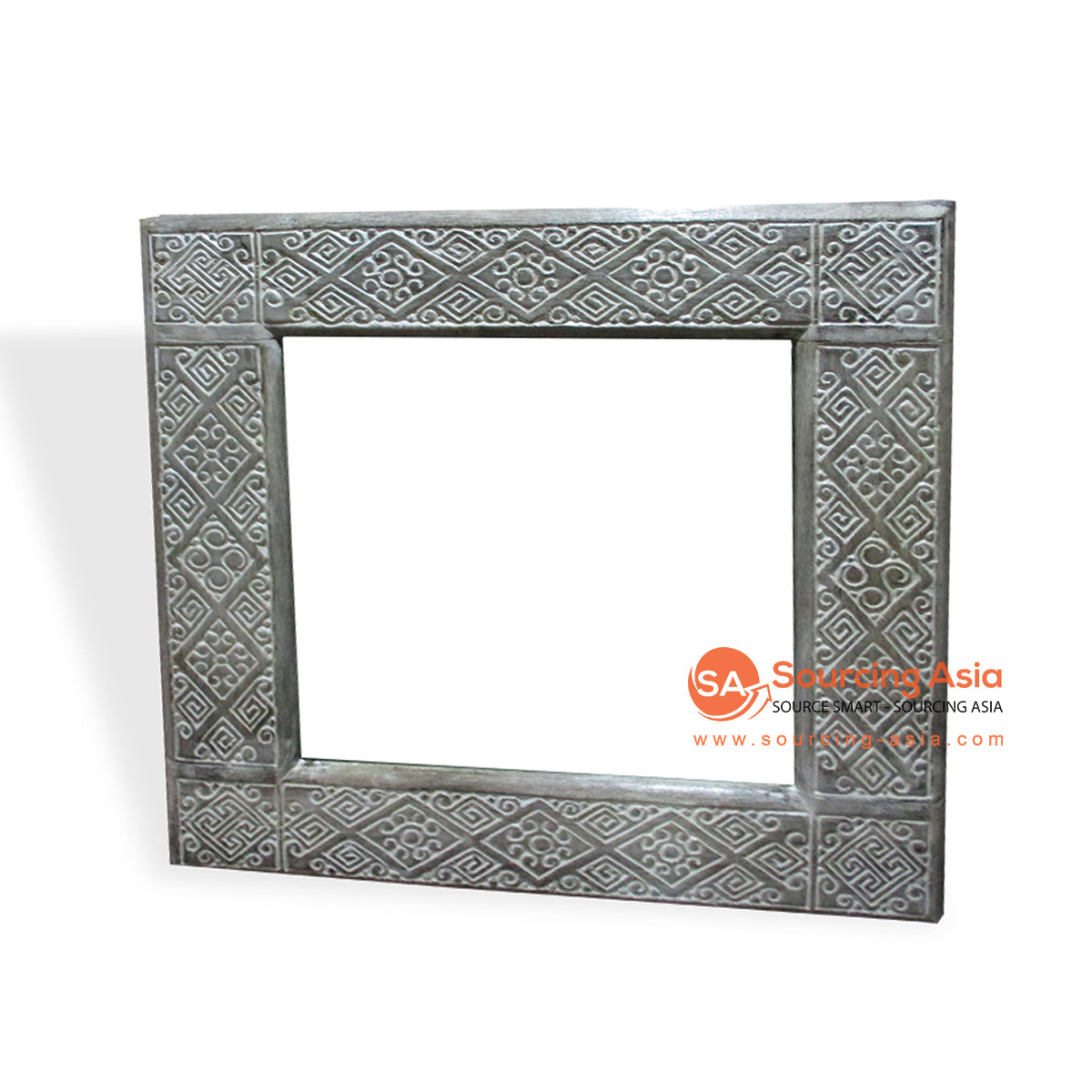 CDA002-3 WOODEN MIRROR WITH CARVING