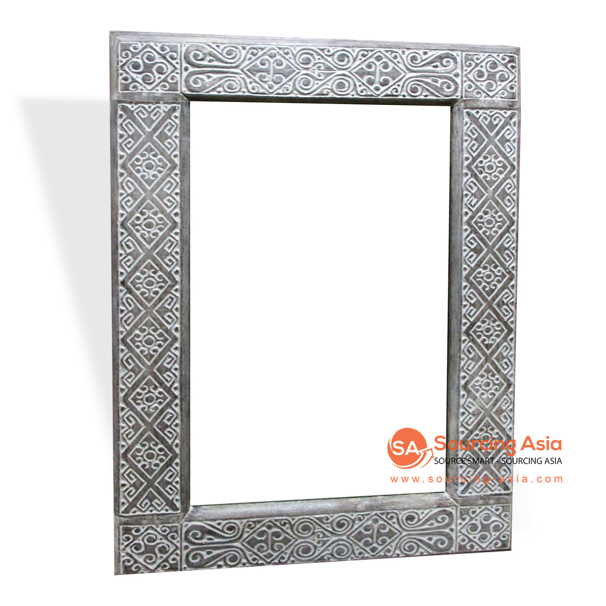 CDA003-3 WOODEN MIRROR WITH CARVING