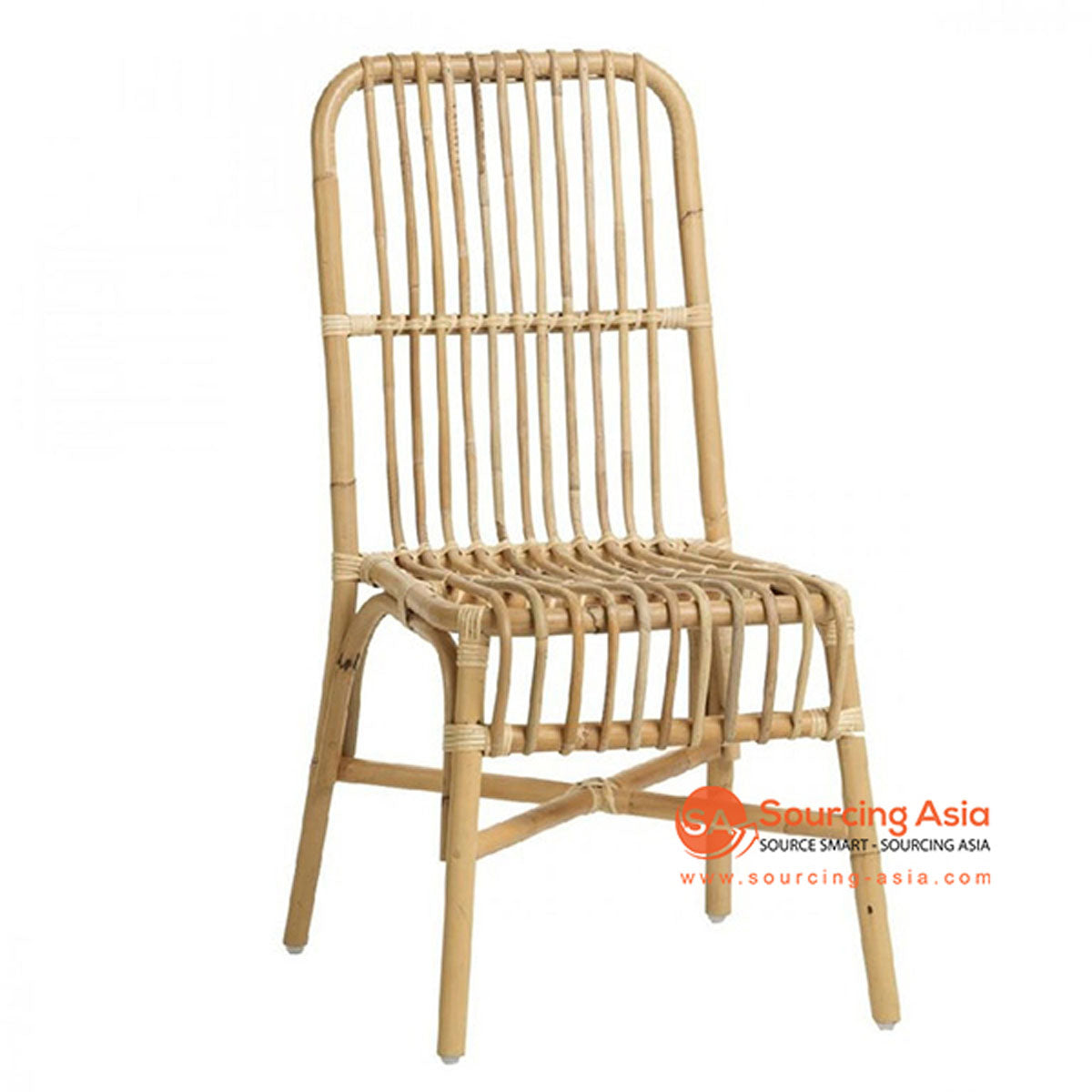 SHL096 NATURAL RATTAN UPHOLSTERED CHAIR