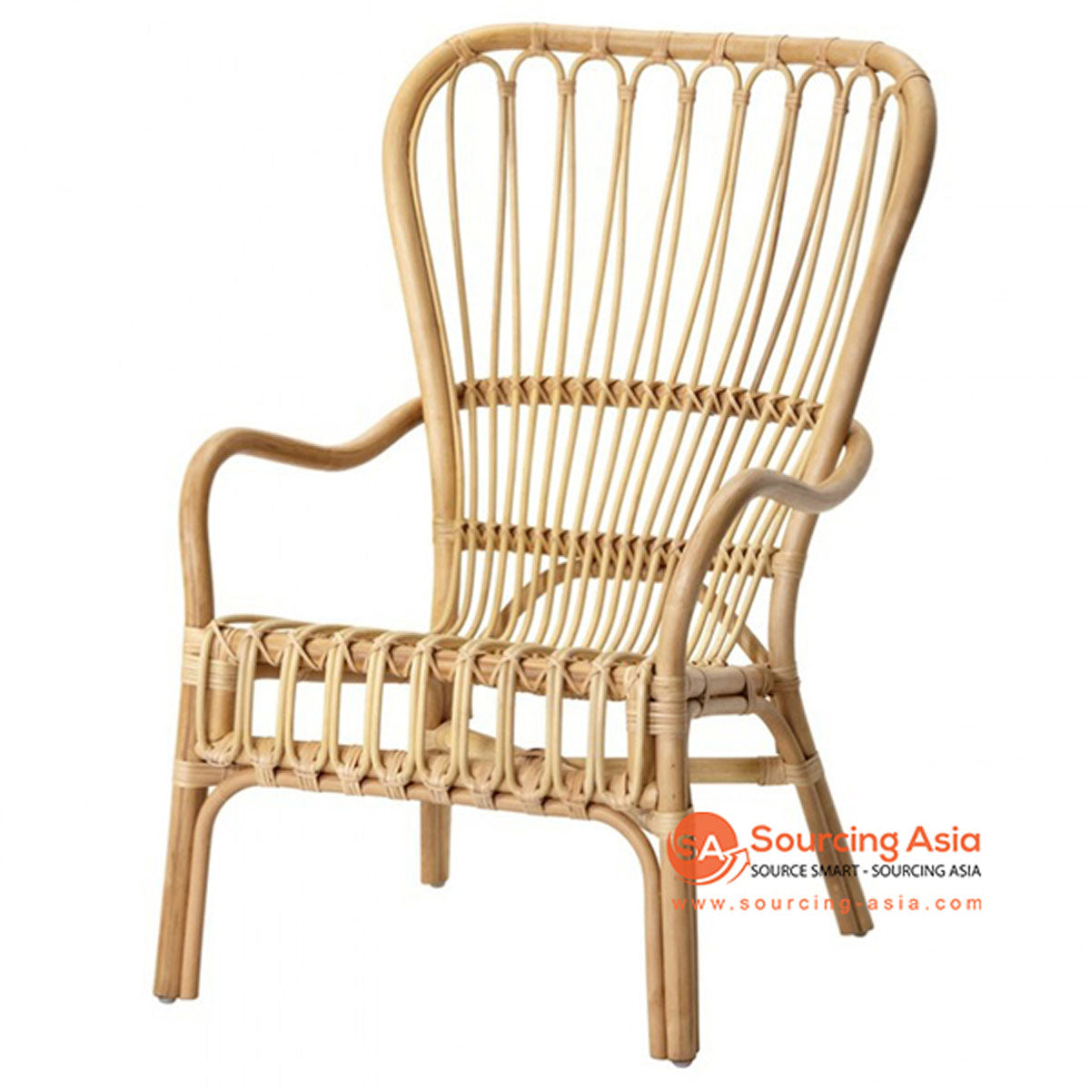 SHL097 - NATURAL UPHOLSTERED DESIGN ARMCHAIR