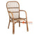 SHL101 - NATURAL UPHOLSTERED DESIGN ARMCHAIR