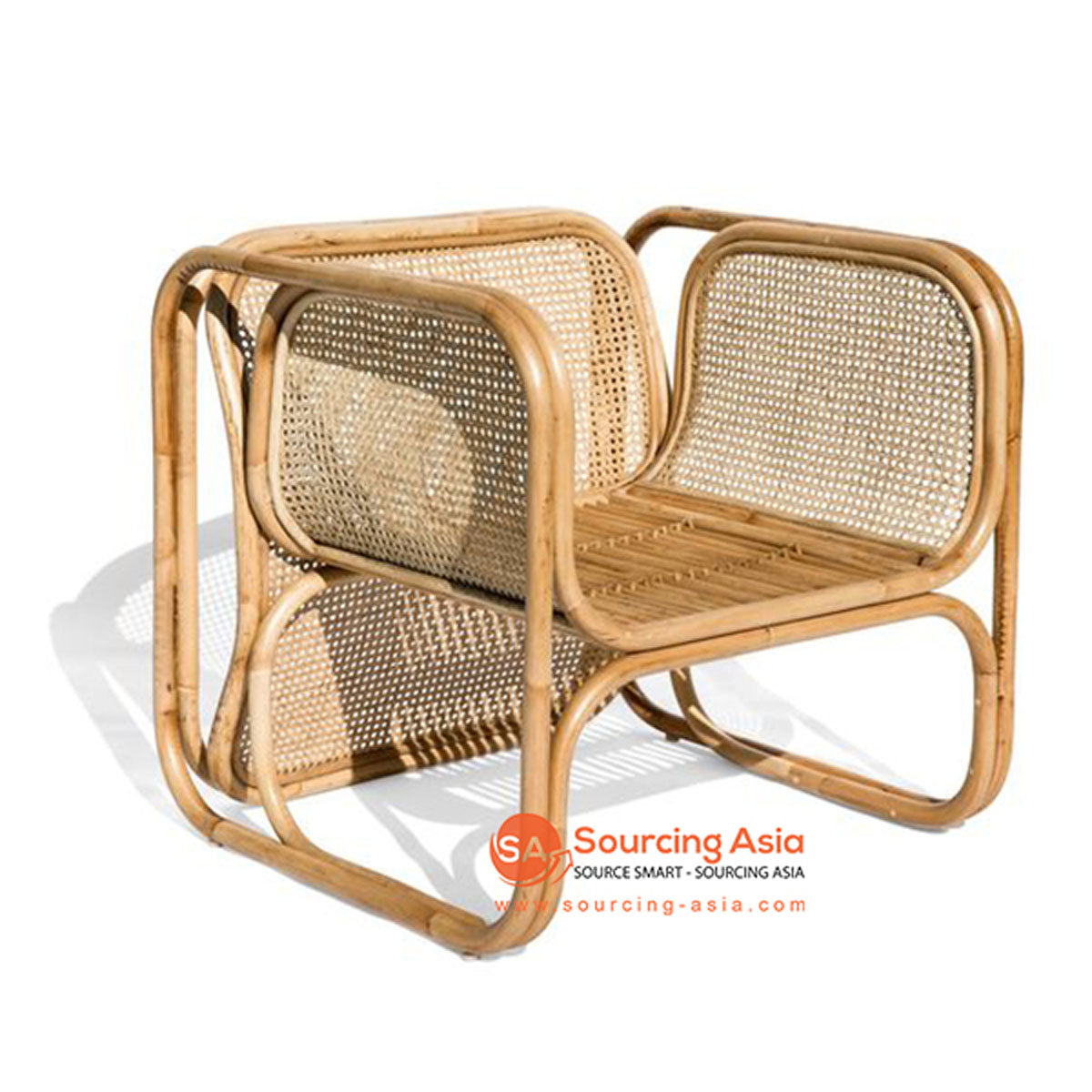 SHL105 - NATURAL UPHOLSTERED DESIGN ARMCHAIR