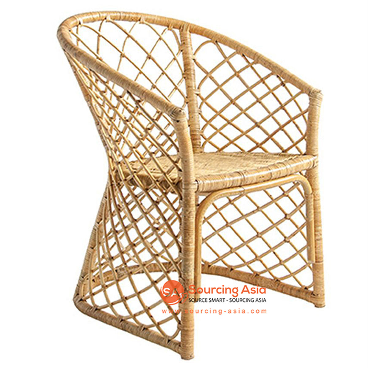 SHL106 - NATURAL UPHOLSTERED DESIGN ARMCHAIR