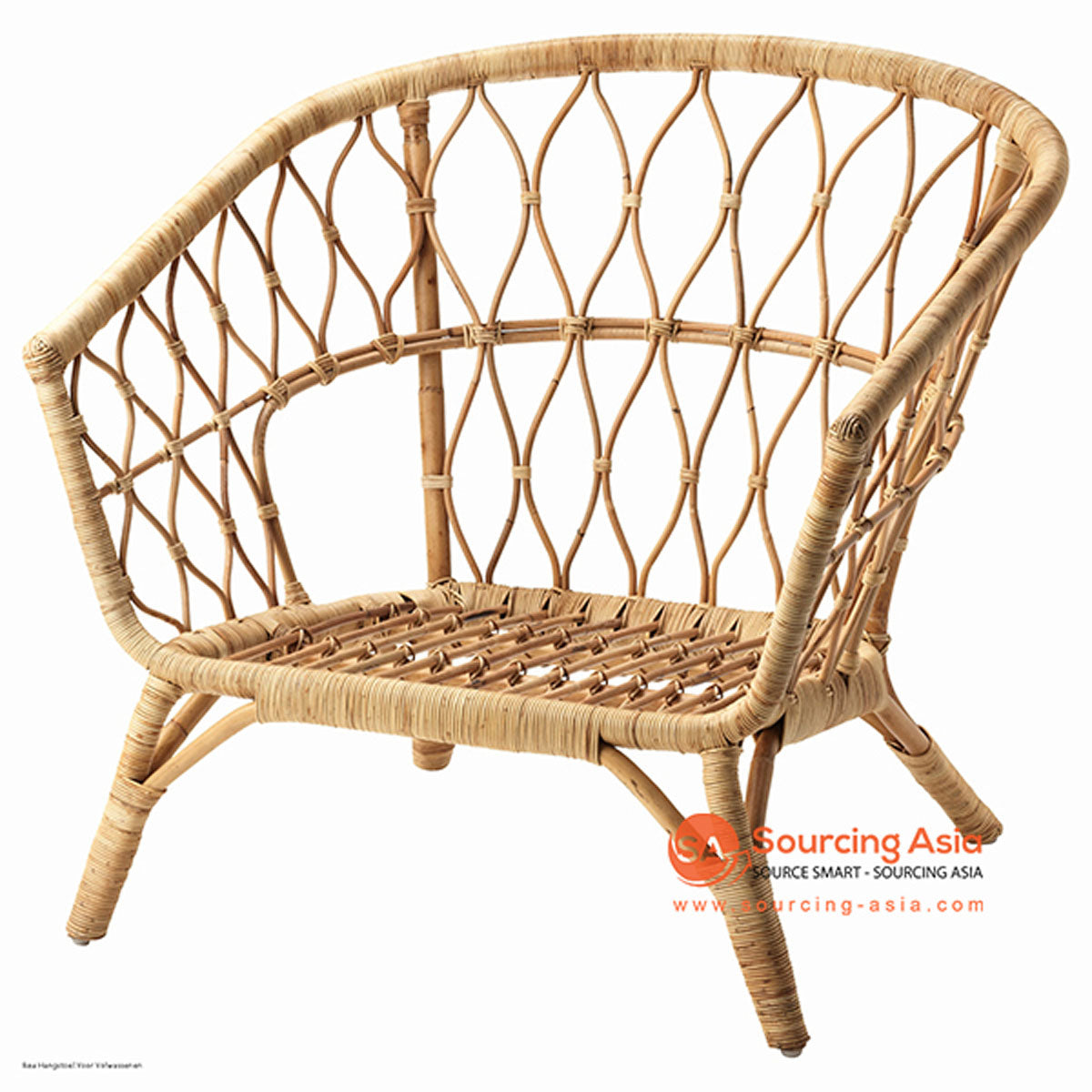 SHL108 - NATURAL UPHOLSTERED DESIGN ARMCHAIR
