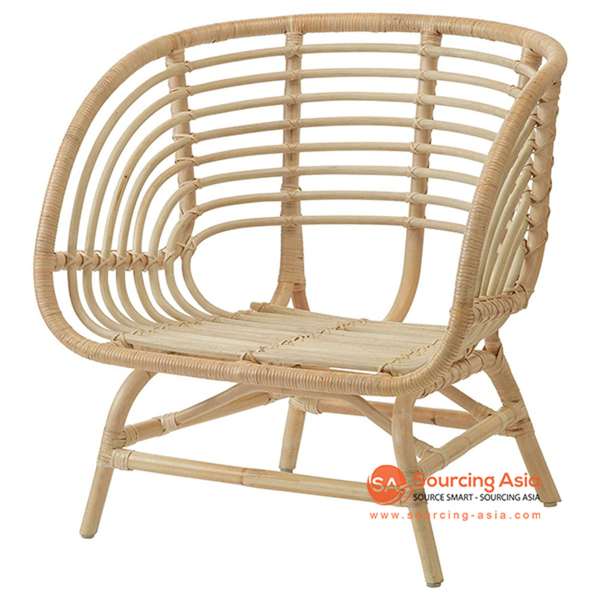 SHL109 NATURAL RATTAN UPHOLSTERED ARMCHAIR