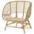 SHL109 - NATURAL UPHOLSTERED DESIGN ARMCHAIR
