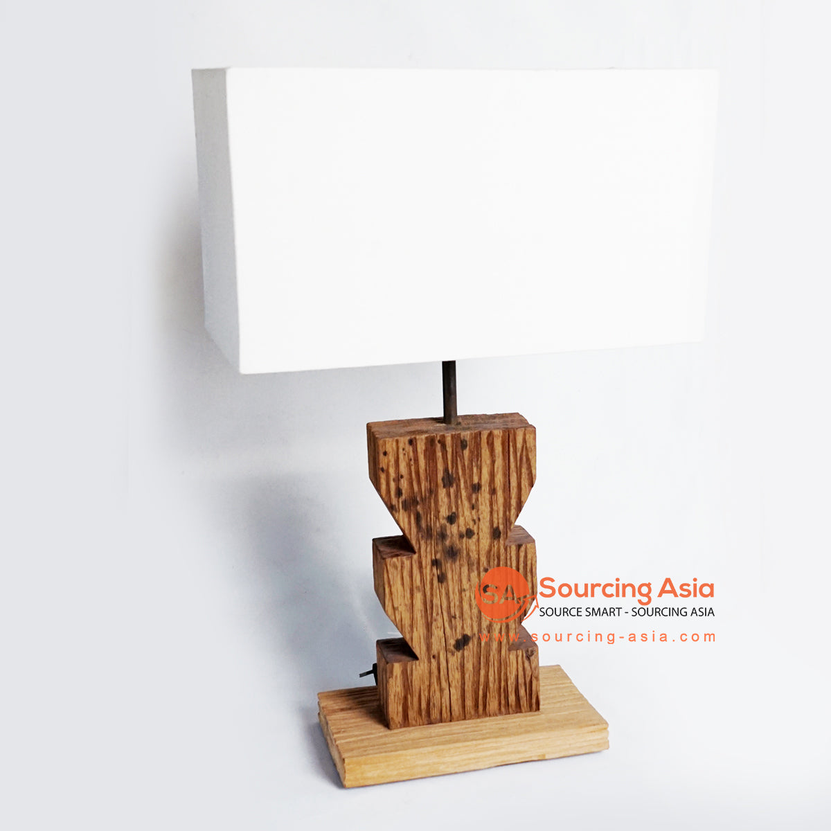 CHKC016 TEAK TABLE LAMP