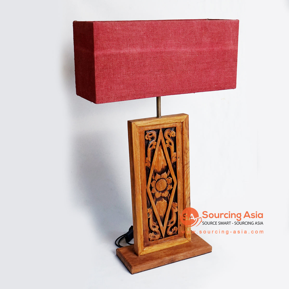 CHKC019 WOOD CARVING TABLE LAMP