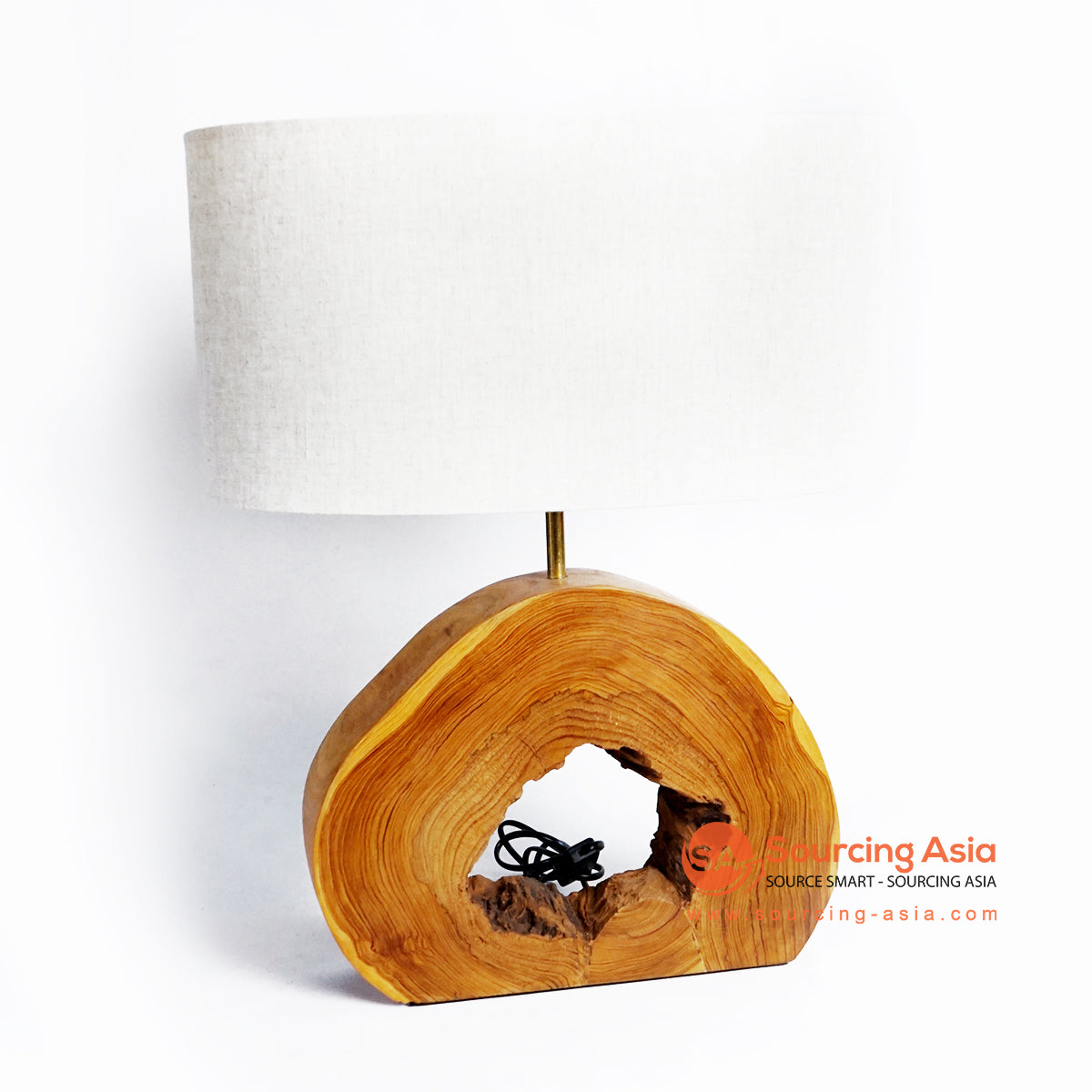 CHKC033 NATURAL TEAK TABLE LAMP