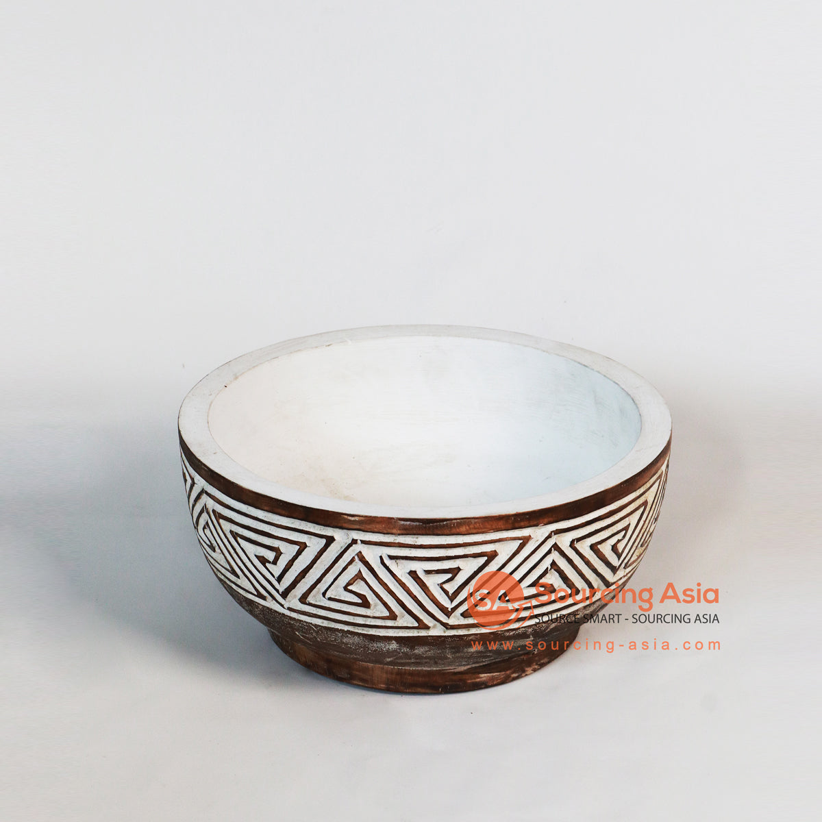 DG009 ETHNIC WOODEN CARVED BOWL