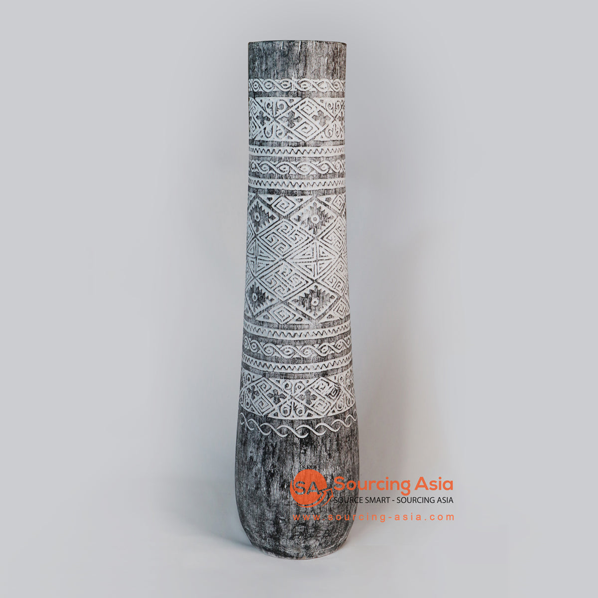 DGP008M ETHNIC TRIBAL PALM POT
