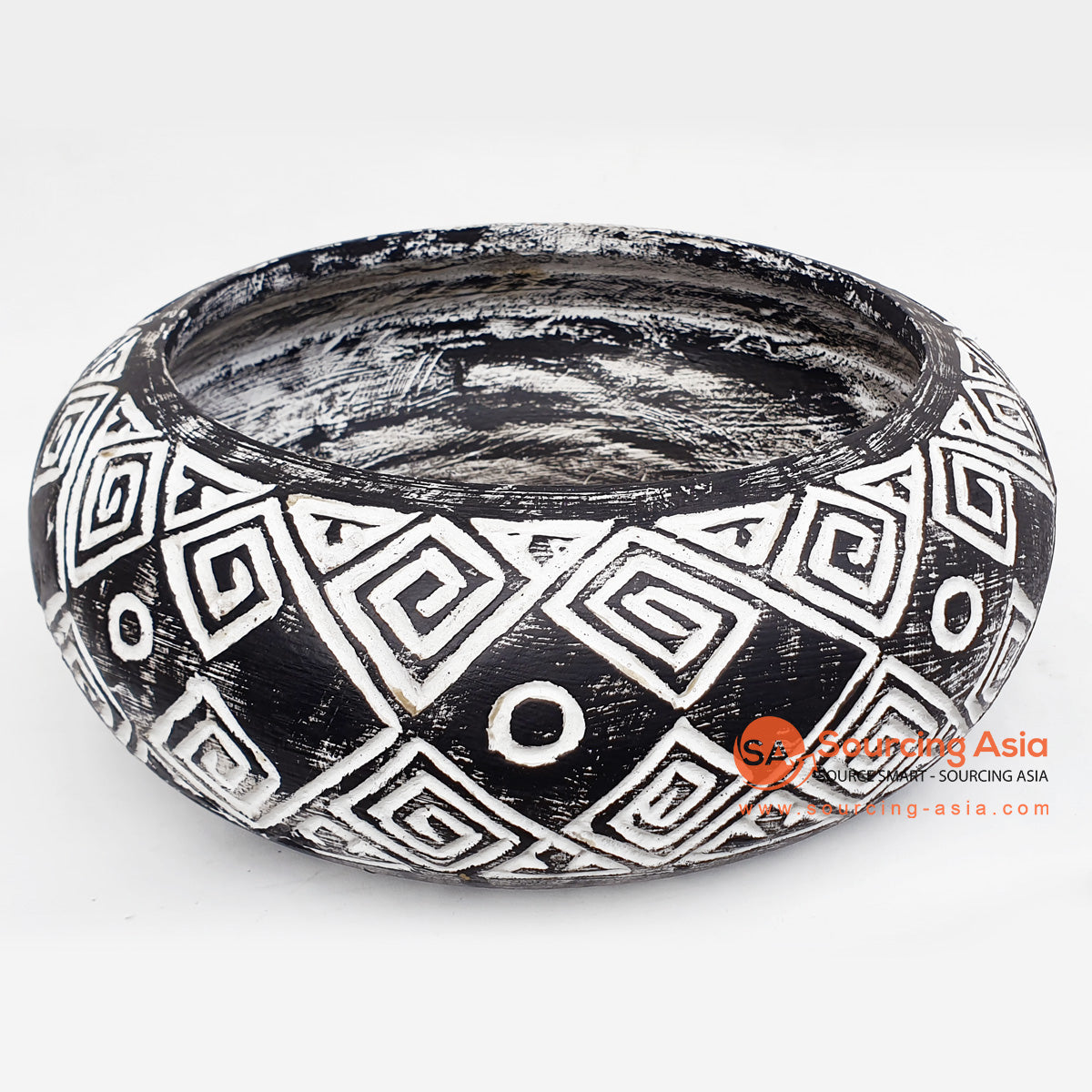 DGPC018-1 ETHNIC TRIBAL CARVED BOWL