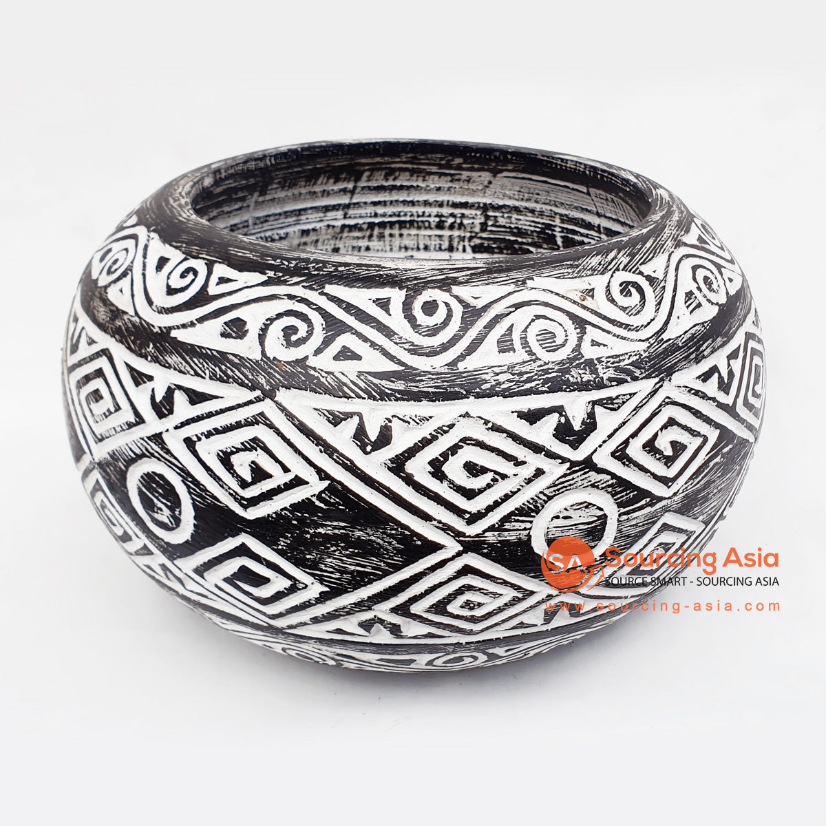 DGPC018 ETHNIC TRIBAL CARVED BOWL