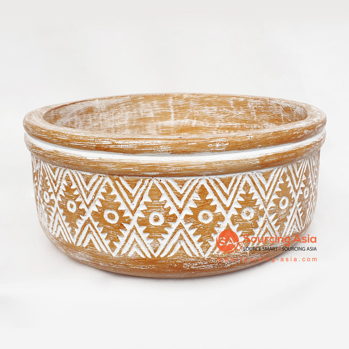 DGPC030-2 ETHNIC TRIBAL CARVED BOWL