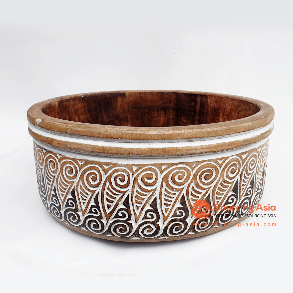 DGPC030 ETHNIC TRIBAL CARVED BOWL