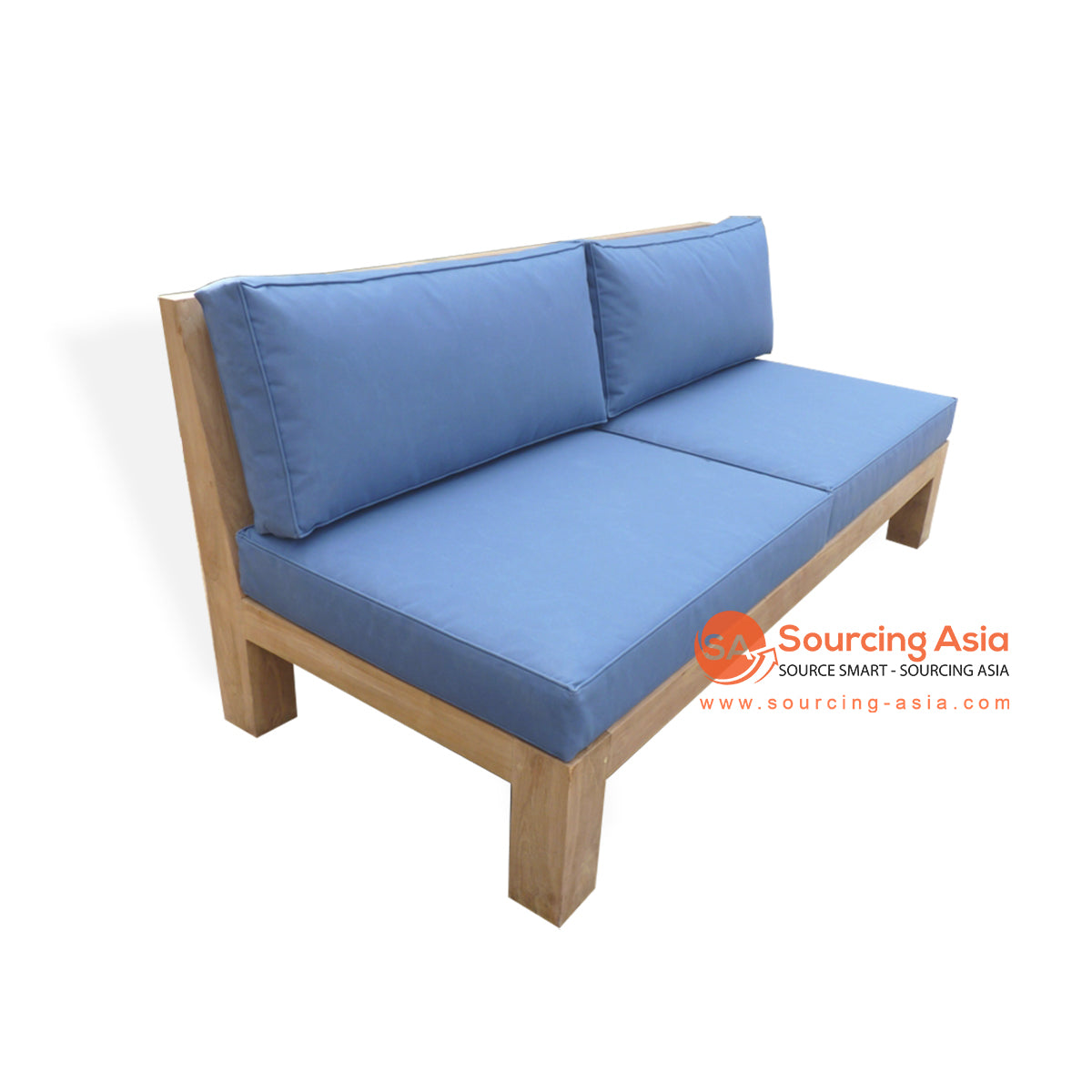 ECL048-240X75 RECYCLED TEAK WOOD SOFA WITH 2 SEATS