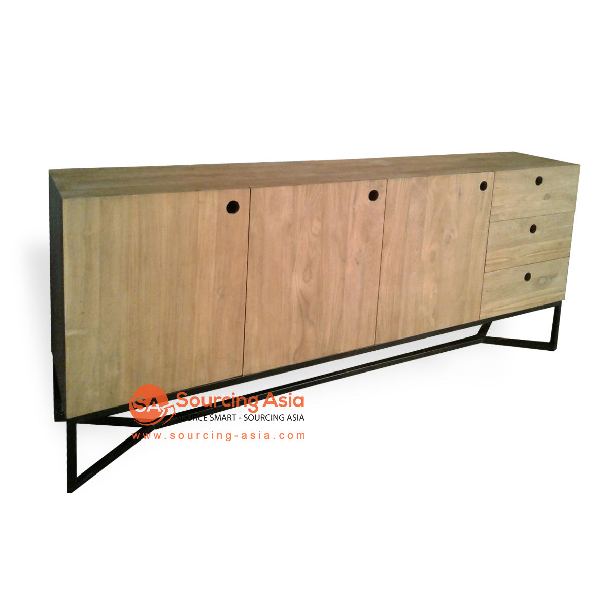 ECL173 3 DOOR 3 DRAWER BUFFET WITH IRON BASE