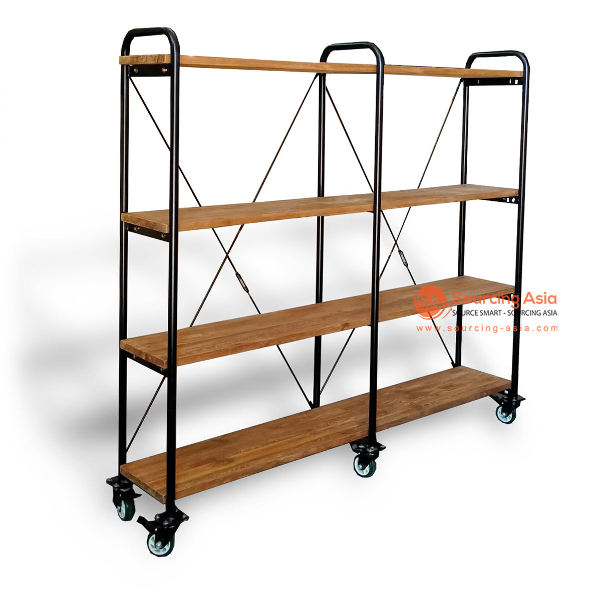 ECL258 METAL AND WOOD STORAGE SHELVING