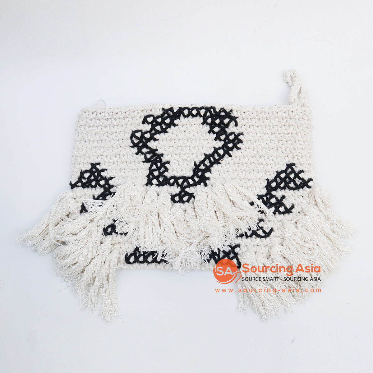 EXAC008-1 MACRAME PURSE WITH BEADING