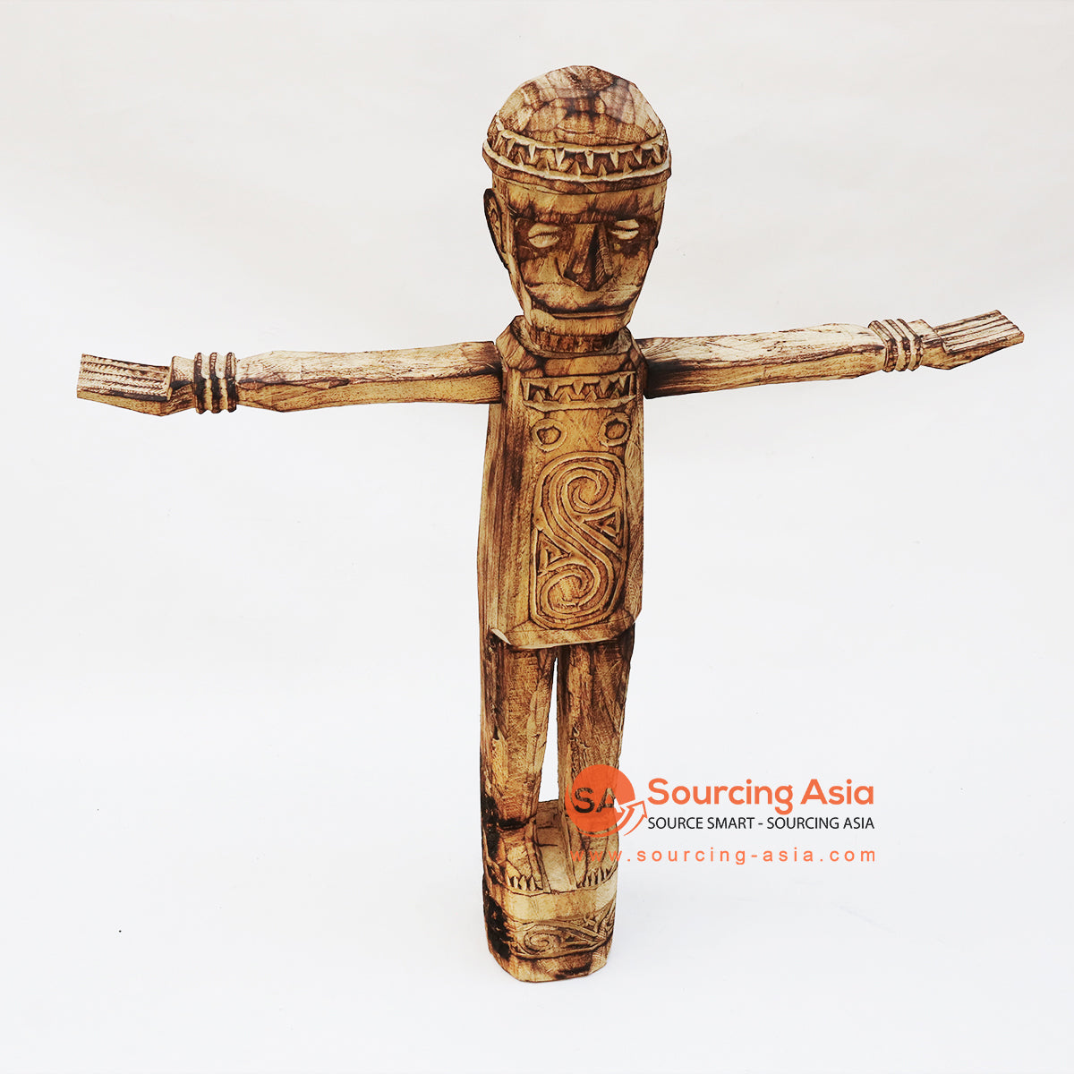 EXAC015-1 SUMBA PEOPLE WOODEN STATUE