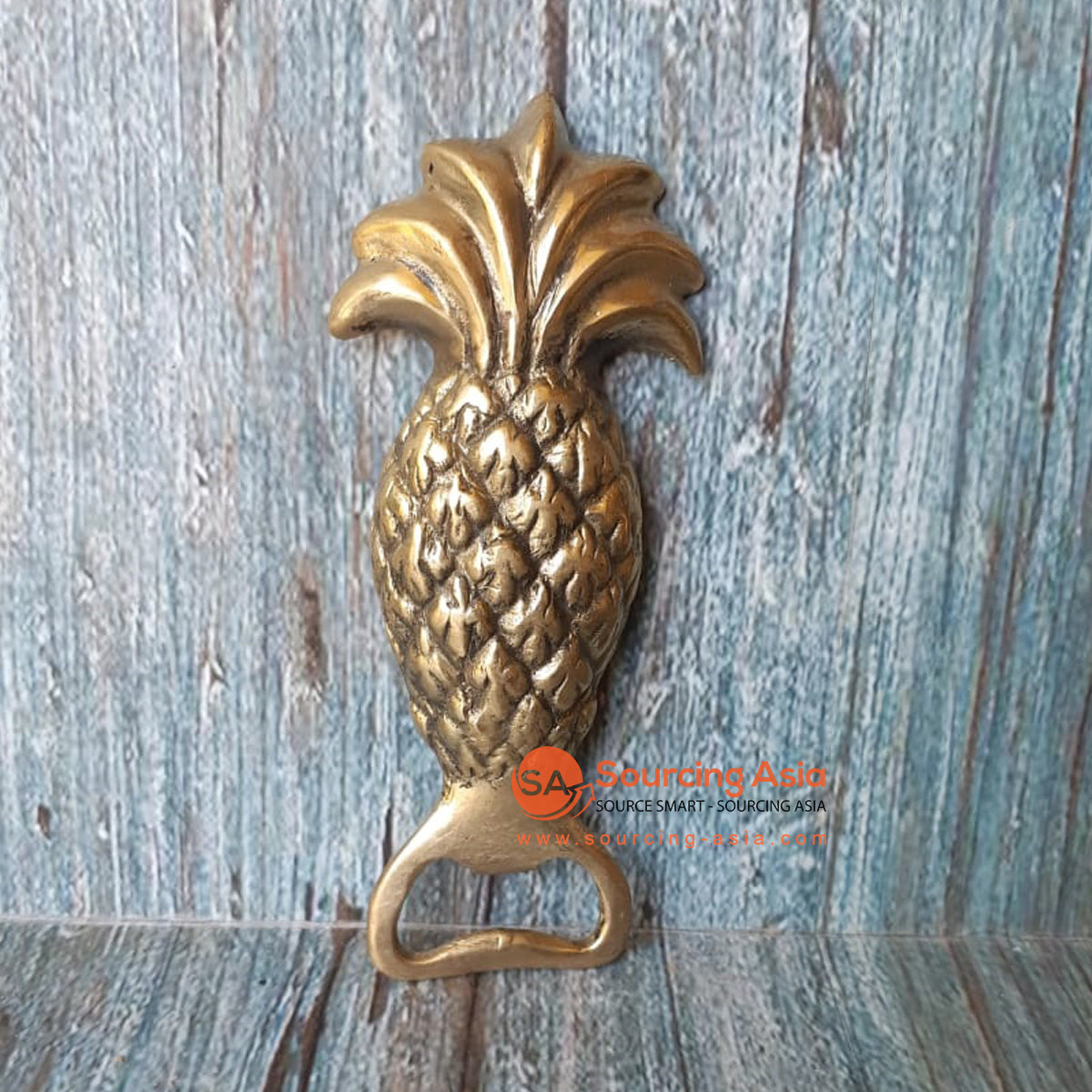 GB151 BRONZE BOTTLE OPENER PINEAPPLE